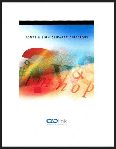 Font & Sign Clip-Art Directory by CADLink