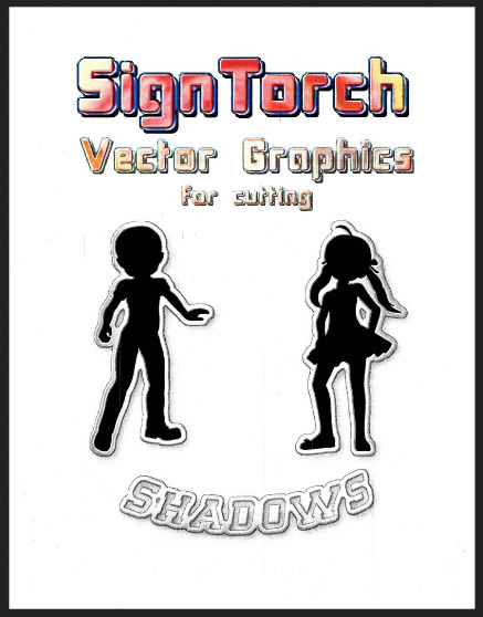 Sign Torch Shadow Series for Cutting Designs