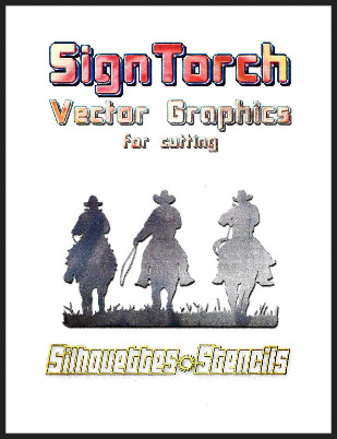 Sign Torch Silhouettes and Stencils Designs