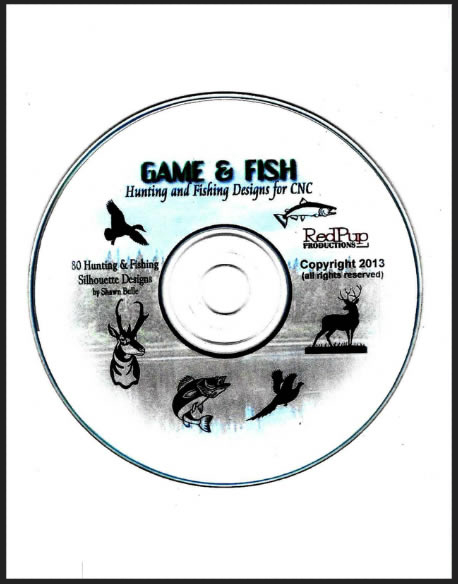 Game and Fish Hunting Designs for CNC