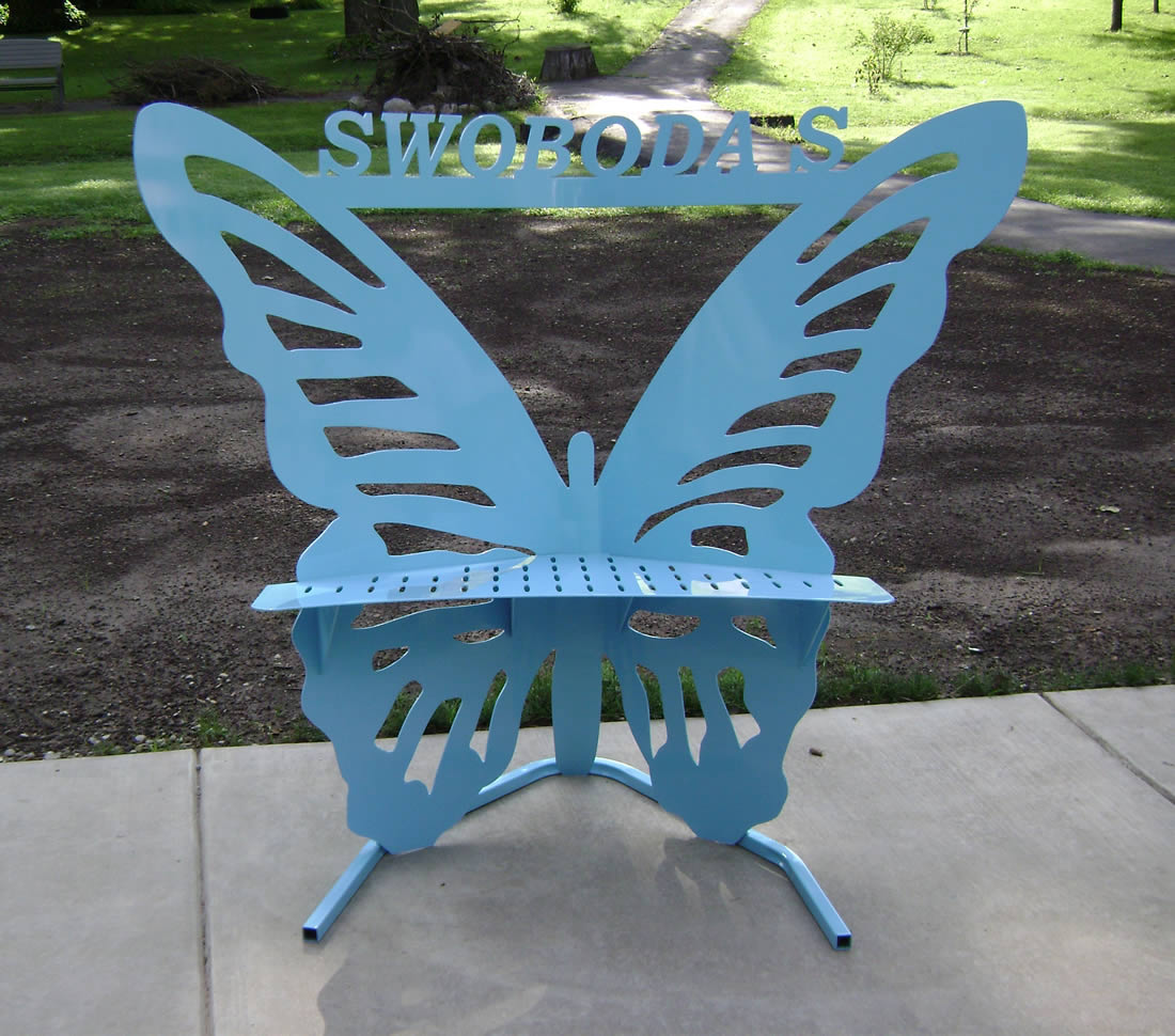 This custom metal cutting chair was made by Dennis Jasmer of DJs Metal Art and Parts