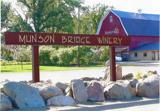 This Munson Bridge Winery Custom Metal Sign was created by DJ and is located in Withee, Wisconsin WI
